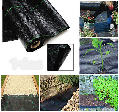 FREE PEGS + 1m x 100m 100g Weed Control Ground Cover Membrane Landscape Fabric
