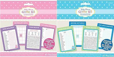Baby Shower Games Pack Shower With Love Game Kit Bingo Word Search Boy Girl X20