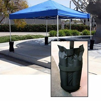 4x 40cm Garden Gazebo Marquee Pole Sand Bag Weights Market Stall Foot Anchoring