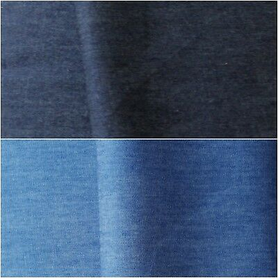 Plain Washed Chambray Denim Dress Fabric WashedChambray-600-LtBlue-M