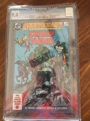 Swamp Thing 50 DC 1986 CGC 9.4 White pgs. 1st Justice League Dark Hot!
