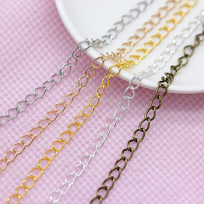 Gold/silver plated Cable open link Iron Tail extend chain findings jewelry DIY