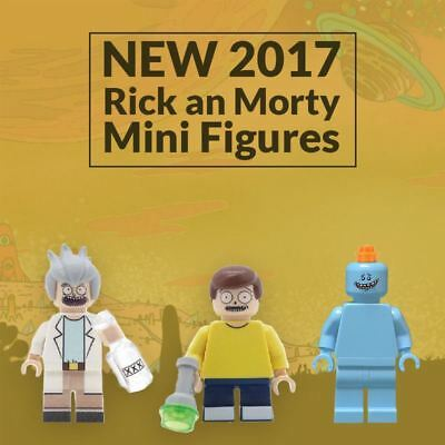 New Rick and Morty Lego Compatible Custom Mini Figures In Blocks Minifigures
