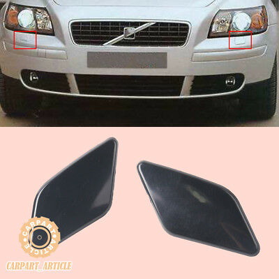 x2 Front L+R Painted Headlight Washer Cover Cap Lid For VOLVO S40 V50 08-12