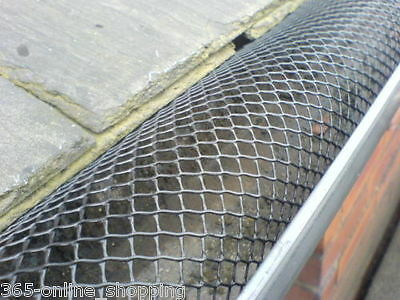 10m Drain Roof Gutter Mesh DIY Guttering Protection Stops Leaves And Debris 16cm