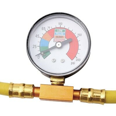 Metal Air Con Refrigerant Recharge AC Hose Gauge Car Air Conditioning Fittings