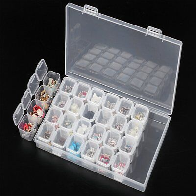 28 Slots Diamond Painting Accessories Box Embroidery Case Geometric Holder YL
