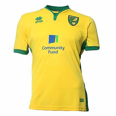 Official Norwich City Football Club 2016-2017 Replica Short Sleeved Home Shirt