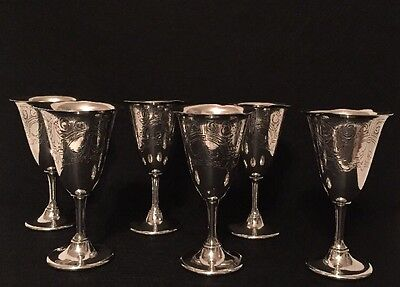 Wallace Goblets Silver Plate Set Of 6 V8097 E P W M