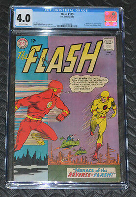 The Flash #139 1st Appearance of Reverse Flash CGC 4.0
