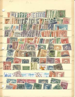 Nicaragua Unsorted Collection on Stock Page, Lot Loaded With Early Stamps