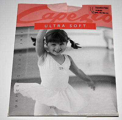 Capezio Transition Tights Little Girls Ballet Pink Fits Sizes 2-6 Dance Recital
