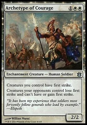 MTG Archetype of Courage [English, Born of the Gods, Free P&P]