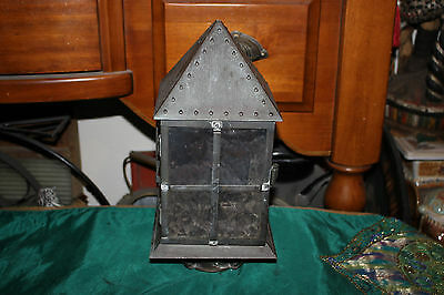Vintage Country Barn Light Fixture Lamp Candle Holder-Nautical Decor-#1-Metal