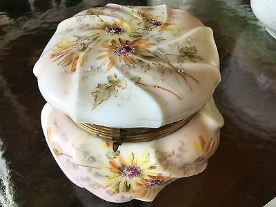 Signed Wavecrest Jewelry Box Large Size Beautiful Hand Painting