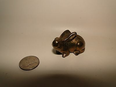 "Small Brass Rabitt, 2"" Long"