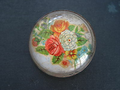 Vintage horse bridle rosette dome glass lflowers