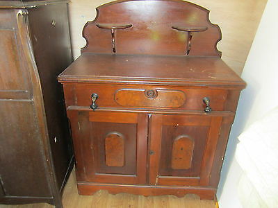 Antique Bedroom Dresser Chest Wood Wooden Vanity Vintage VTG HTF