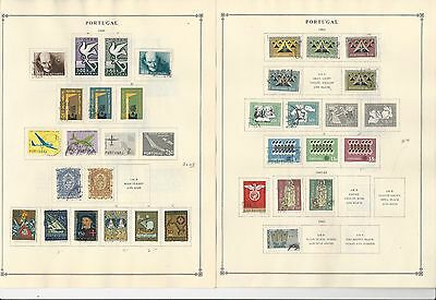 Portugal Collection 1960-1965 on 8 Scott International Pages (Mint Stuck)