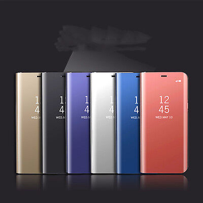 Fashion Luxury Platting Clear view Mirror Stand Flip Case Cover 4 Samsung Mobile