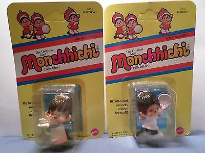 lot of 2 Unopened Vintage  Monchhichi PVC Figures