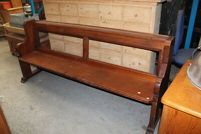 Antique Pitch Pine Church Pew Settle Seating
