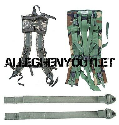 (2) NEW Quick Release Straps for MOLLE II Shoulder Pads Fits Woodland ACU Desert