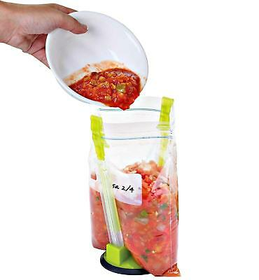 Baggy Rack Clip  Hands-Free Food Storage Sandwich Bag Holder Kitchen 6A