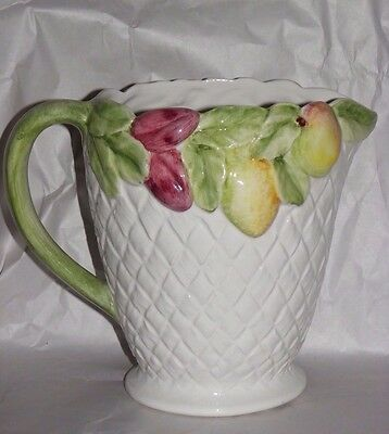 NOVE ITALIA SAN MARCO  FRUIT & BASKET WEAVE Pitcher 7 1/8""