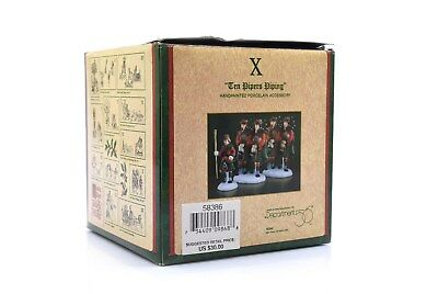 Heritage Village Collection Twelve Days of Dickens Village Ten Pipers Piping