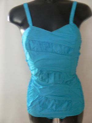 Vintage 1960's Aquapoise Swimming Costume Swimsuit Made In England Size 8 New