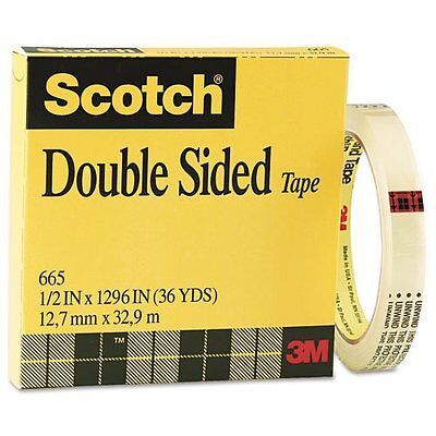 """Scotch Double Sided Office Tape, 3"""" Core"""