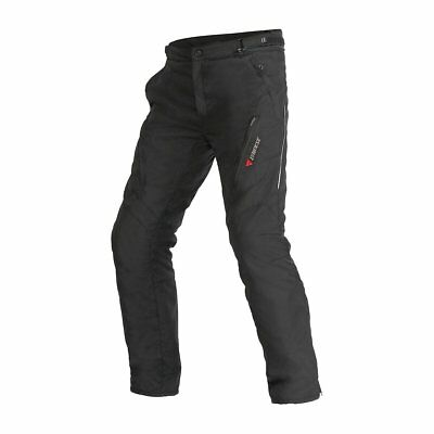 Dainese Tempest D-Dry Mens Waterproof Textile Pants Black/Black 50 Euro/34.5 USA