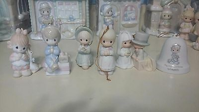 Precious moments Christmas ornaments lot of 6