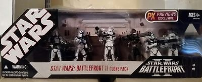 Star Wars Battlefront II Clone Pack PX Exclusive Hasbro 2007 Action Figures NEW