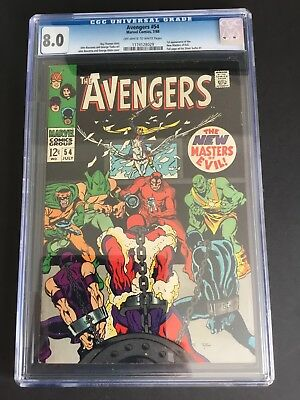 AVENGERS #54 (1968) CGC 8.0 First NEW MASTERS OF EVIL MARVEL