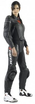 Dainese Avro 2-pc Womens Leather Motorcycle Suit Black/Anthracite 42 USA/52 Euro