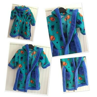 Mini Club Baby Boys Cute Bugs Monster Dressing Gown 6-9 Months