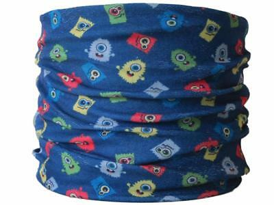 CHILD SIZE Neck Tube Fuzzy Monsters,ski skiing snood mask hat base layer scarf