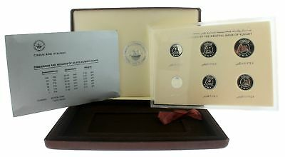 1987 Central Bank of Kuwait 6-Coin Silver Proof Set 1, 5, 10, 20, 50, 100 Fils