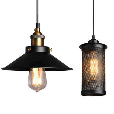 Vintage Industrial Pendant Antique Loft Ceiling Light Metal Lamp Shade Fixture
