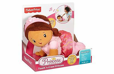 (New) Fisher Price Touch N Crawl Princess African American Crawling Toddler Doll