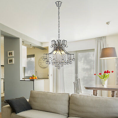 Contemporary Ceiling Glass Crystal Chandelier Modern Lighting 12 Arms Pendant