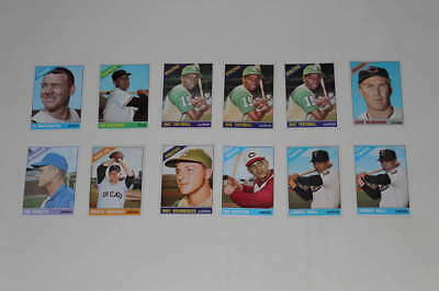 1966 Topps Baseball Starter Partial Set Lot 12 Cards Ex Dupes Ps043