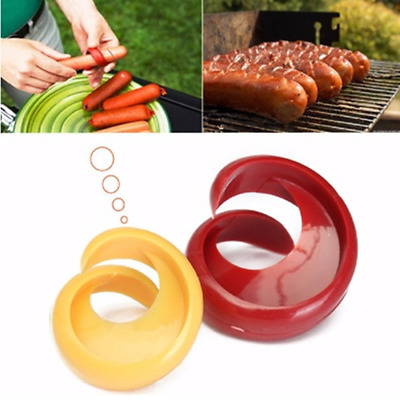 2Pcs Plastic Spiral Hot Dog Sausage Cutter Slicer Home Kitchen Cutting Tool New