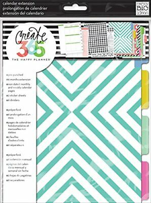 Me & My Big Ideas papel Create 365Planner mes extensión pages-teal/oro