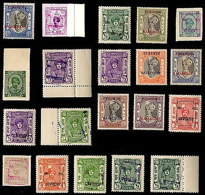 20 RAJASTHAN (INDIAN STATE) All Different Stamps (c$80)