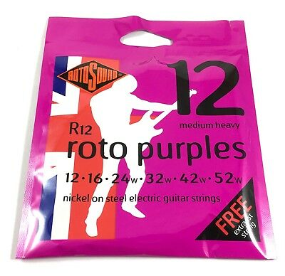 RotoSound Roto Purples Nickel Steel Electric Guitar Strings Medium Heavy 12-22
