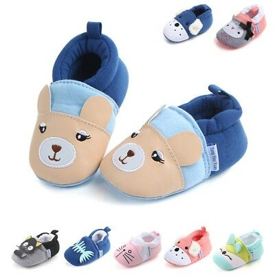 Cartoon Baby Infant Boy Girl Sneaker Soft Sole Prewalker Toddler Kids Crib Shoes