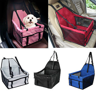 Pet Dog Cat Car Booster Seat Car Harness Travelling Carrier Case with Seat Belt
